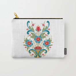 Nordic Rosemaling Carry-All Pouch