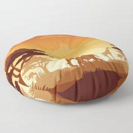 Abstract African Safari Floor Pillow