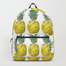 pineapplepattern grid fill, repeating, tiled | elegant Backpack
