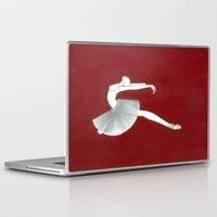 ballerina Laptop & iPad Skins featuring Ballerina by Nadina Embrey - Artist / Illustrator