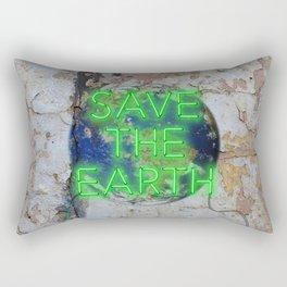 Save the Earth - Neon Rectangular Pillow