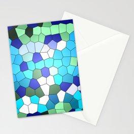 Green blue Turquoise Mosaik Stationery Cards