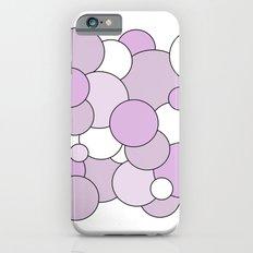Bubbles - purple and white. Slim Case iPhone 6s