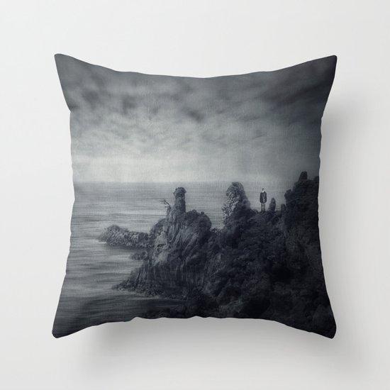 Lava.Sea Throw Pillow