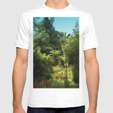 Heligan Gardens 1/4 MEDIUM White Mens Fitted Tee