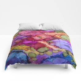 L and L Flower Explosion Comforters