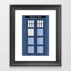 Doctor Who, Tardis Framed Art Print