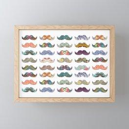 Mustache Mania Framed Mini Art Print