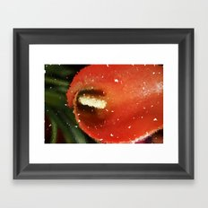 Pixilated Water Flower Framed Art Print