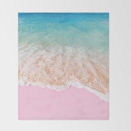 PINK SAND Throw Blanket