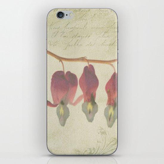 Bleeding Heart Flowers iPhone & iPod Skin