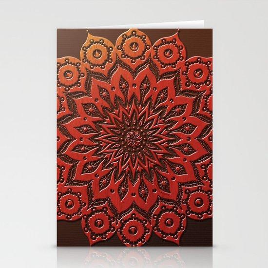 okshirahm woodcut Stationery Cards