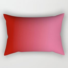 Ombre in Red Pink Rectangular Pillow