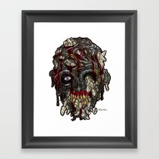 Heads of the Living Dead Zombies: Infested Zombie Framed Art Print