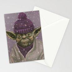 Christmas Yoda (fiolet) Stationery Cards