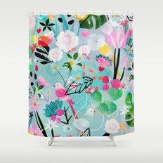 jolly birds Shower Curtain