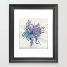 Explosion Flower Blue and Purple Framed Art Print