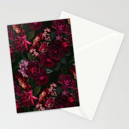 Vintage & Shabby Chic - Night Botanical Flower Roses Garden Stationery Cards