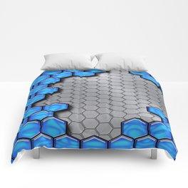 Blue Metallic Scale Comforters
