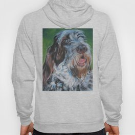 Spinone Italiano dog art portrait from an original painting by L.A.Shepard Hoody