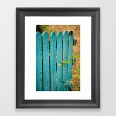 Open gate Framed Art Print
