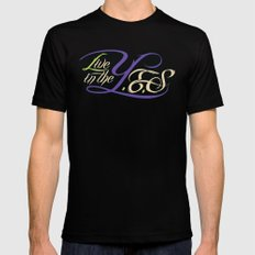Live In The YES Logo Mens Fitted Tee MEDIUM Black
