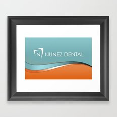 Nunez Dental Logo Framed Art Print