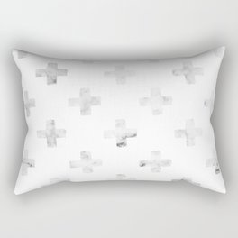 Swiss Crosses in Marble Print Rectangular Pillow