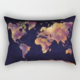 world map 64 Rectangular Pillow