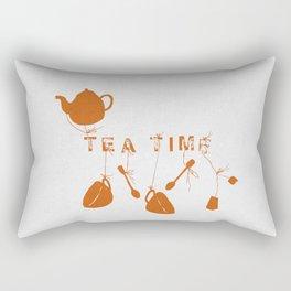 Orange Tea Time II Rectangular Pillow