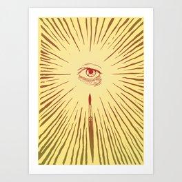 The Man With The Golden Eyeball Art Print