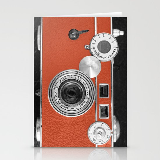 Tangerine Tango retro vintage phone Stationery Cards