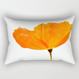 One And Only - Orange Poppy White Background #decor #society6#buyart Rectangular Pillow