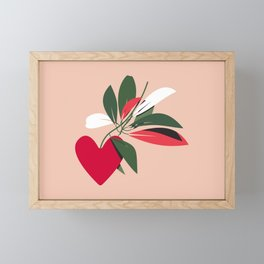 Give Yourself Time - Red Framed Mini Art Print
