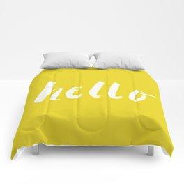 Hello x Sunshine Script Comforters