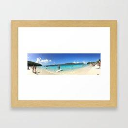 Paddle-boarding in Paradise Framed Art Print