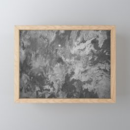 Grayscale Pour 822 Framed Mini Art Print