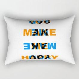 You make me Happy / Sad – reversibel Rectangular Pillow