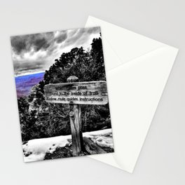 Grand Canyon Photograph Color/Black and White Mashup Stationery Cards