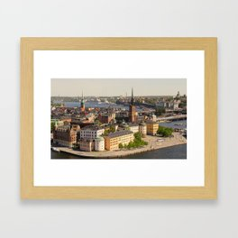 Gamla Stan Framed Art Print