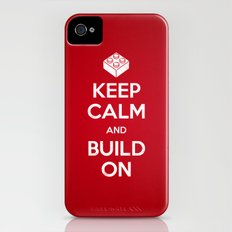 Keep Calm and Build On Slim Case iPhone (4, 4s)