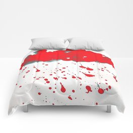 Red Red Clouds Comforters