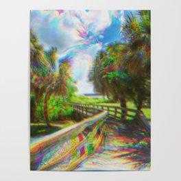 Trippy Walkway Poster