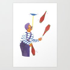 A circus performer named Brian. Art Print