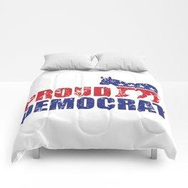 Proud Democrat Donkey Distressed Comforters