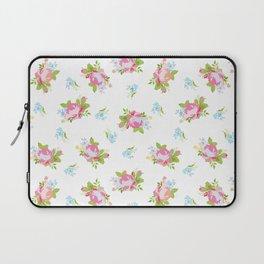 Soft Floral Print Laptop Sleeve