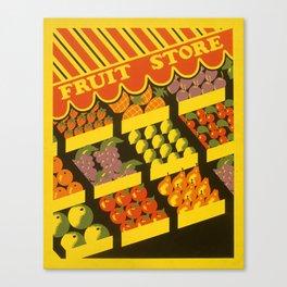 Fruit Store Canvas Print