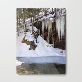 Frozen Sabbaday Falls NH (4) Metal Print