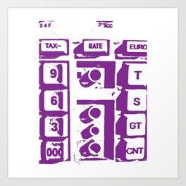 Calculator Art Print