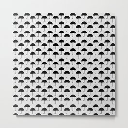 Black Umbrella Metal Print